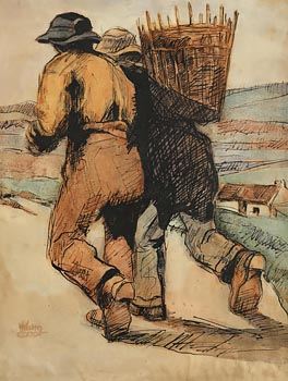 William Conor, Turf Carriers at Morgan O'Driscoll Art Auctions