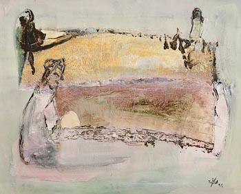 John Kingerlee, Figures in Landscape (1992) at Morgan O'Driscoll Art Auctions