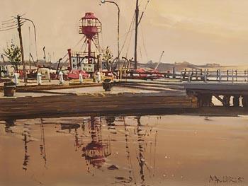 Cecil Maguire RHA RUA (1930-2020), Waterfront, Wexford (1982) at Morgan O'Driscoll Art Auctions