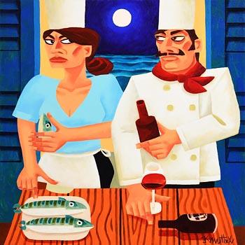 Graham Knuttel, Moonlight Dining at Morgan O'Driscoll Art Auctions