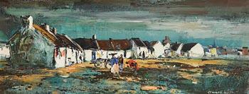 Kenneth Webb, Claddagh Village, Galway at Morgan O'Driscoll Art Auctions