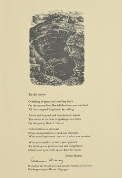 Seamus Heaney, The Air Station (Illustrated by Hellmuth Weissenborn) at Morgan O'Driscoll Art Auctions