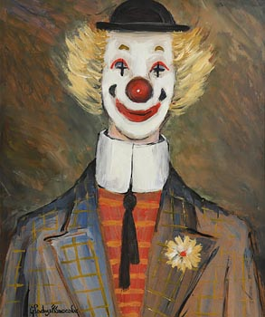 Gladys MacCabe, Cheerful Clown at Morgan O'Driscoll Art Auctions