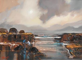 J.P. Rooney, Misty Bogland - Turf Cutters at Morgan O'Driscoll Art Auctions