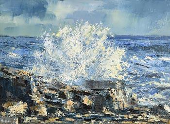 Henry Morgan, Crashing Wave Doolin (2021) at Morgan O'Driscoll Art Auctions