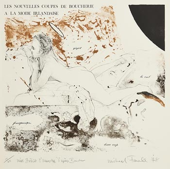 Michael Farrell, La Mode Irlandaise (1978) at Morgan O'Driscoll Art Auctions