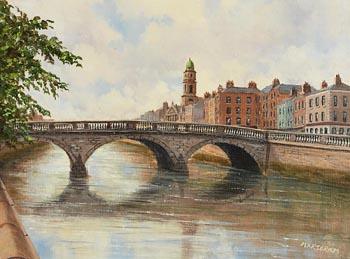 Gerard Marjoram, Four Courts from the Liffey at Morgan O'Driscoll Art Auctions