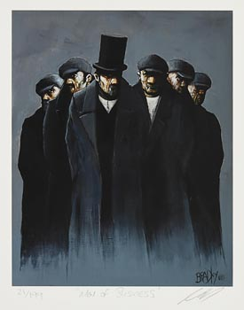 Terry Bradley, Men of Business at Morgan O'Driscoll Art Auctions