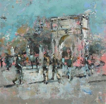 Andrew Hood, St. Stephen's Green, Dublin at Morgan O'Driscoll Art Auctions