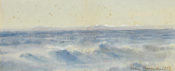 William Percy French, Ocean Waves, Snowy Mountains Beyond (1907) at Morgan O'Driscoll Art Auctions