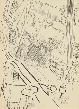 Jack Butler Yeats, View of the Garden at Morgan O'Driscoll Art Auctions