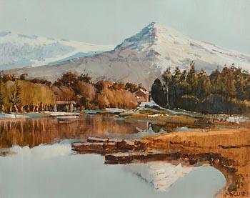 Cecil Maguire, Winter, Ballynahinch, Connemara at Morgan O'Driscoll Art Auctions