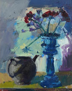 Brian Ballard, Still Life - Teapot and Blue Urn at Morgan O'Driscoll Art Auctions