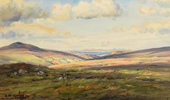 Charles J. McAuley, Looking Down Glenshesk to Rathlin Island and Paps of Jura at Morgan O'Driscoll Art Auctions