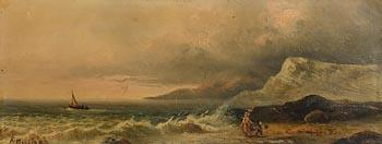 Alexander Williams, Fishing on the Beach of the Irish Coast at Morgan O'Driscoll Art Auctions