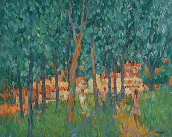 Desmond Carrick, The Park at Vieux Moulin, St. Jean, Vernonnet at Morgan O'Driscoll Art Auctions