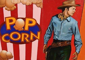 Liam Belton, Popcorn and Audie Murphy (2011) at Morgan O'Driscoll Art Auctions