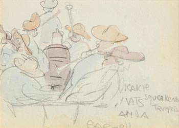 Jack Butler Yeats, The Travelling Coach (second image verso) at Morgan O'Driscoll Art Auctions