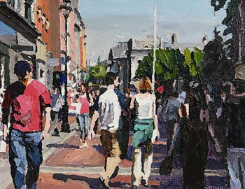 Stephen Cullen, Grafton Street and Trinity College at Morgan O'Driscoll Art Auctions