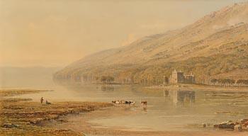 George Arthur Fripp, Kilchurn Castle, Lough Awe at Morgan O'Driscoll Art Auctions