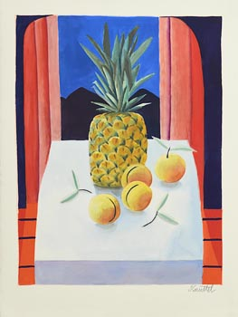 Graham Knuttel, Pineapple and Peaches at Morgan O'Driscoll Art Auctions