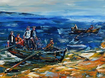 David Coyne, Atlantic Fishermen (2010) at Morgan O'Driscoll Art Auctions