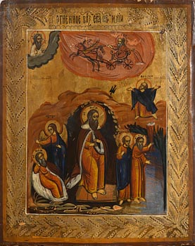 19th Century Greek School, The Prophet Elijah with Scenes of his Life at Morgan O'Driscoll Art Auctions