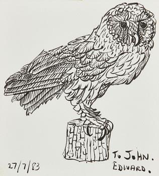 Edward McGuire, Owl (1983) at Morgan O'Driscoll Art Auctions