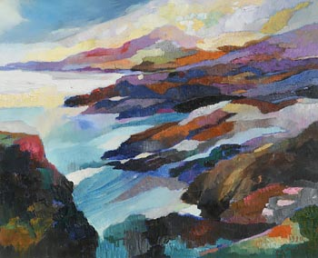Maurice Henderson, West Cork Seascape (1990) at Morgan O'Driscoll Art Auctions