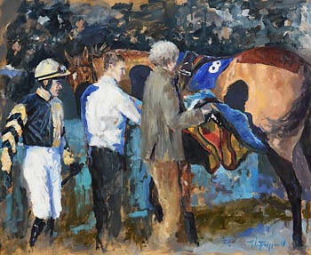 John Fitzgerald, Ready to Mount, Leopardstown at Morgan O'Driscoll Art Auctions