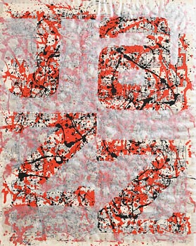 Neil Shawcross, Red and Silver Fuzz (2012) at Morgan O'Driscoll Art Auctions