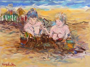Marie Carroll, Fun at the Beach at Morgan O'Driscoll Art Auctions