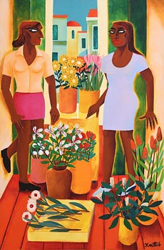 Graham Knuttel, The Florists at Morgan O'Driscoll Art Auctions