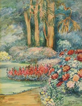 Elizabeth Corbet Yeats, Garden in Summer (1939) at Morgan O'Driscoll Art Auctions