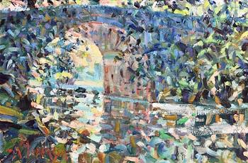 Arthur K. Maderson, Under Lismore Bridge, Cappoquin at Morgan O'Driscoll Art Auctions