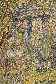 Basil Ivan Rakoczi, La Colonnade, Parc Monceau, Paris (1948) at Morgan O'Driscoll Art Auctions