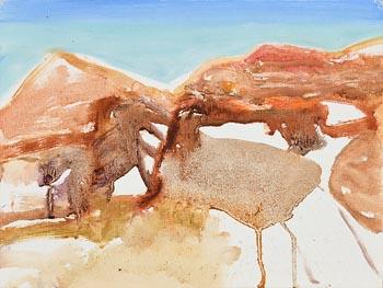 Barrie Cooke, U Cross (1989) at Morgan O'Driscoll Art Auctions
