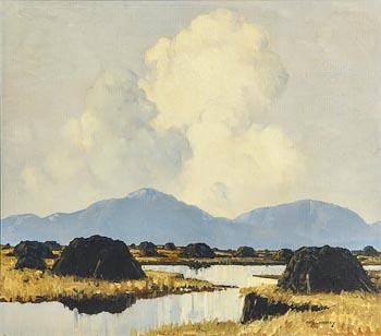 Paul Henry, Turf Stacks in Connemara at Morgan O'Driscoll Art Auctions