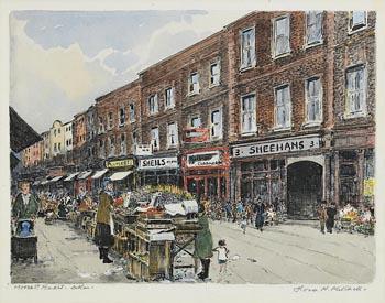 Flora H. Mitchell, Moore's Street Market, Dublin at Morgan O'Driscoll Art Auctions
