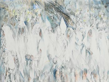 Louis Le Brocquy, Riverrun, Procession with Lilies (W.1256) (1992) at Morgan O'Driscoll Art Auctions