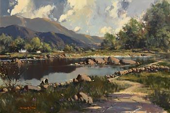 George K. Gillespie, Lough Mask, Connemara at Morgan O'Driscoll Art Auctions