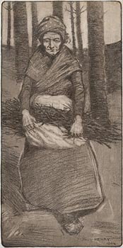 Paul Henry, Woman with Fagots (1904) at Morgan O'Driscoll Art Auctions