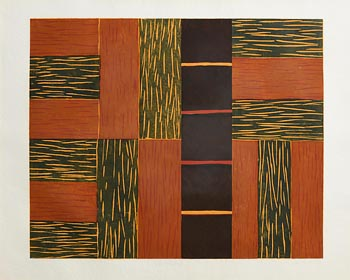 Sean Scully, Green Ascending (1991) at Morgan O'Driscoll Art Auctions
