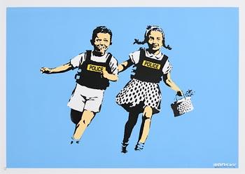Banksy, Jack and Jill (Police Kids) (2005) at Morgan O'Driscoll Art Auctions