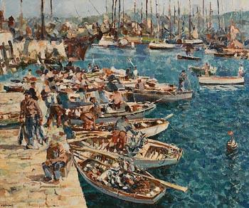 James Le Jeune, Douarnenez Harbour at Morgan O'Driscoll Art Auctions