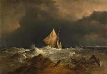 Richard Brydges Beechey, The Approaching Storm (1864) at Morgan O'Driscoll Art Auctions