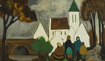 Markey Robinson, Chatting After Mass at Morgan O'Driscoll Art Auctions