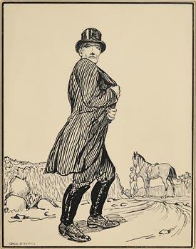 Jack Butler Yeats, The Huntsman at Morgan O'Driscoll Art Auctions