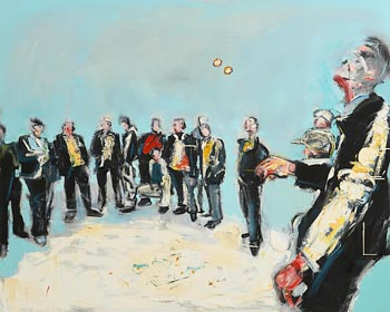John Brian Vallely, The Road Bowlers at Morgan O'Driscoll Art Auctions