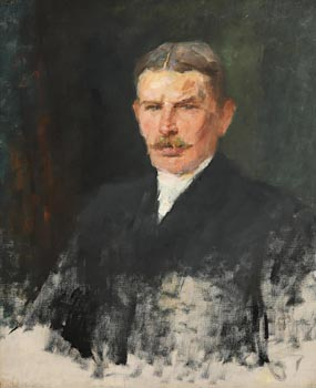 John Butler Yeats, Portrait of George Pollexfen (The artist's brother-in-law) at Morgan O'Driscoll Art Auctions
